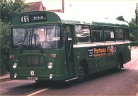 AFB597V in NBC green livery