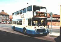 CVF29T in Blue Bus livery with First fleetnames