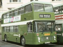 JWV273W in NBC green livery