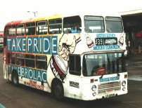 LFJ853W in allover advertising livery for Brolac Paints