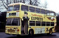 RNV810M in Milton Keynes Express advertising livery