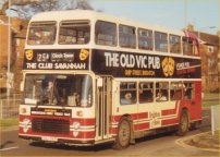 SNJ591R in wraparound advertising livery for The Old Vic Pub