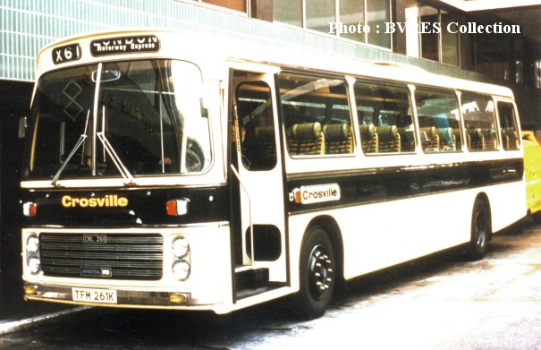 TFM261K in Crosville coach livery