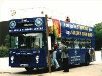 UWV612S in overall advert for Sellafield Visitor Centre