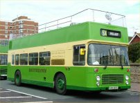 UWV615S in traditional Southdown green and cream livery