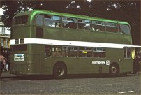 UWV615S in NBC green livery