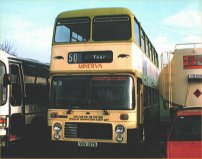 VDV137S in Bath Tour livery with roof fitted