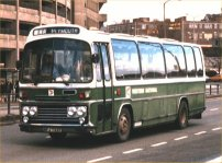 AFJ733T in NBC green and white dual purpose livery